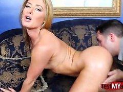 Hot pornstar ass lick with cum on ass