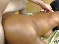 Hot shemale slut Ariadne Oliver ass rammed and jizzed