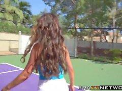 Cougars Diamond Jackson and Nikki Benz sharing big cock