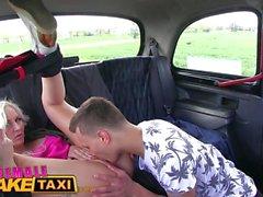 FemaleFakeTaxi Busty driver gets a big cock