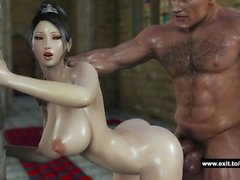 Lady enjoys huge creampie from huge cock
