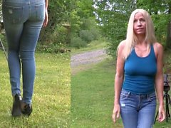 Amanda pisst ihre Jeans