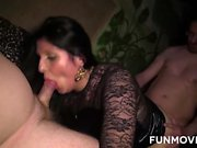 Perverse sex club fucking with orgy and boundage