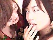 Three alluring Japanese ladies bring their lesbian fantasie
