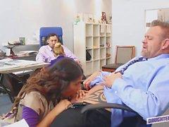 Dads Get to Taste Slutty Secretaries in the Office