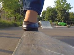 Ступней и ног открытом воздухе