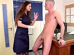 Naked amateur guy gets blowjob from British CFNM babes