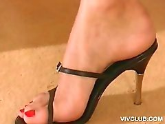 Thongs heel feet high