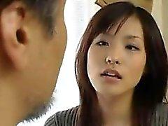 Японской Жена с этапом Деда