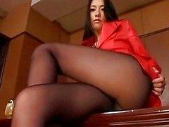 Азиатского колготки пол