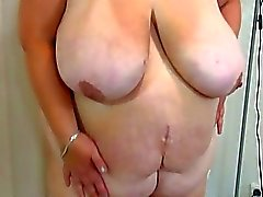 Chubby granny with big tits and her girlfriend