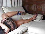 Vollkommenen Fahrwerkbeinen und hohe Absätze sowie Schuhe und Body Sexy