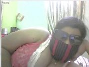Indischen pummeligen Mädchen Streifen on cam