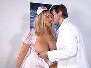 Big tits nurse titty fuck and cum on tits