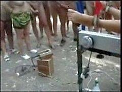 Pervertieren in Huren FKK Camping benutzt . Amateur öffentliche Nacktheit