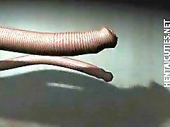 Hentai escravo nos tentáculos tomar pau
