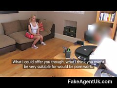 FakeAgentUK - Cute and flexible blonde girl