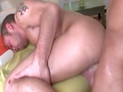 Black and white dude fuck each other tight asshole