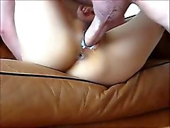 Hot asian amateur gets fucked and creampied by white cock