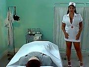 Busty British Nurse Olied Tit Wank & Fuck
