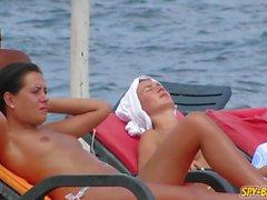 Amadores Lindo Lindo Praia Voyeur em Topless Adolescente