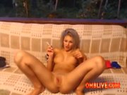 OMBLIVE Tight Blonde Is So Horny She Wants You To Pop SQUIRT