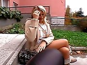Shy blonde gives fine oral sex before hardcore sex