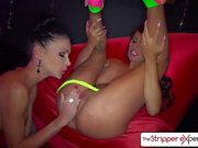 Stripper Опыт - Jacky Joy & Джессика Джеймс лесбиянки