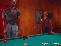 Incredible sex on pool table where