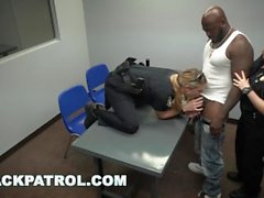 BLACK PATROL - MILF Cops With Big Tits And Ass Give Black Thug An Ultimatum