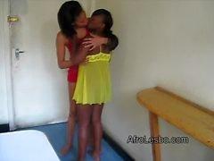 Aisha and Lisha have their first lesbian experience
