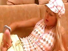Blonde roken haar speelgoed