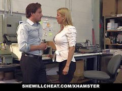 SheWillCheat - Busty MILF Boss Fucks Новый сотрудник
