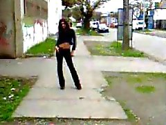 Teenager de Tranny walking