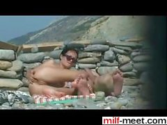 Hot Couple Fucking On Beach