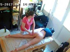 Russisch versteckte Spy Cam: Anti-Cellulite-Massage