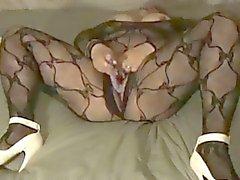 Брызги в моей с вырезами тело чулке