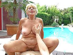 Penis ramming a lustful grandma