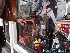 Dutch hooker toys pussy
