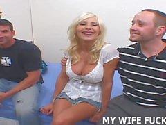 Ehefrau Reiten Strangers Groß Schwanz