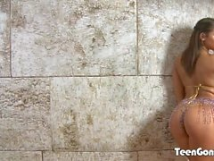 TEENGONZO Abella Danger gets all of her holes filled deep