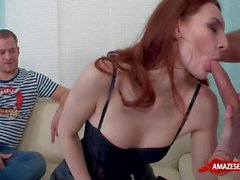 Hot wife sex with cumshot