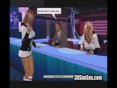 Виртуальных девушки трахается в ночной клуб