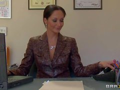 Big titted dream secretary Ava Addams gets horny