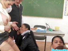 Zauber Schul geniessen Klassenzimmer Orgie