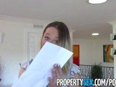 PropertySex - immobiliare di caldo rende video di sesso con il client come il regalo inaugurazione della casa