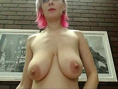Sexy amateur big boobs chica coño clavado en el baño
