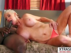 Big tits Aunty Lexy Cougar Ride cock Hard Young Bud