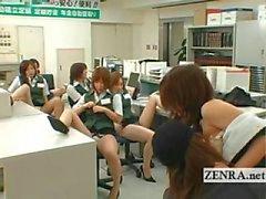 Японского почтовое отделение охранная грудастый Masturbation участнику