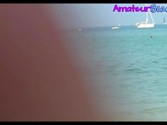 Nudiste Amateur Voyeur Plage Close-Up Video
